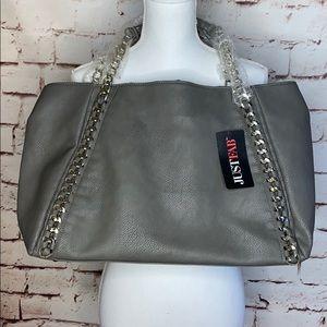 JustFab Large Shoulder Bag Tote w/ Chain Strap